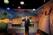 La statue de cire du président chinois, Xi Jinping, au musée Madame Tussauds de Dubaï, aux Emirats arabes unis, le 18 octobre 2021.