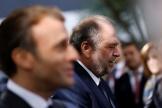 Emmanuel Macron et Eric Dupond-Moretti, au palais des congrès de Poitiers, lundi 18 octobre