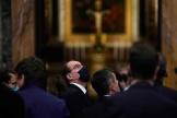 Le premier ministre français, Jean Castex, dans laSala Regia, au palais du Vatican, le 18 octobre 2021.