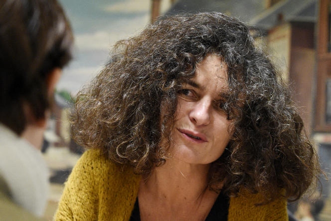 L'historienne française et spécialiste de l'extrémisme de droite et du négationnisme Valérie Igounet, à Hayange (Moselle), le 08 mars 2017.