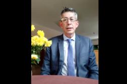 Nicolas de Bouillane de Lacoste adresse un message d'espoir au peuple biélorusse sur YouTube, le 18 octobre 2021.