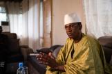 Le premier ministre de la République du Mali, Choguel Maïga, dans un salon de sa résidence officielle, à Bamako, le 16 octobre 2021.