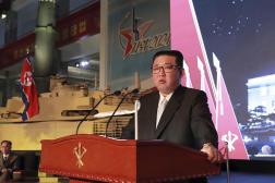 Le dirigeant nord-coréen Kim Jong-un, à Pyongyang, le 19 octobre 2021.