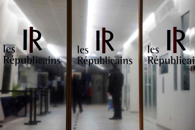L'entrée du siège du parti Les Républicains, à Paris, le 19 octobre 2021.