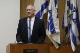 Le ministre de la défense, Benny Gantz, s'exprime à la Knesset, le parlement israélien, à Jérusalem le 11octobre 2021.