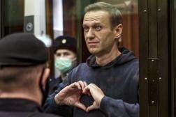 L'opposant russe Alexeï Navalny lors d'une audience au tribunal de Moscou,le 2 février 2021.