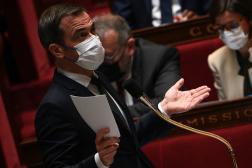 Le ministre de la santé, Olivier Véran, lors d'une séance de questions au gouvernement, à l'Assemblée nationale, le 19 octobre 2021.