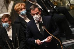 Le ministre de la santé, Olivier Véran, à l'Assemblée nationale, le 19 octobre 2021.