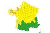 Carte de vigilance de Météo France, le 20 octobre 2021.