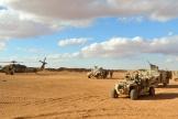 Au camp de base de la garnison américaine d'al-Tanf, dans le sud de la Syrie, en 2017.