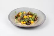 La recette à base de polenta et de champignons d'Ecaterina Paraschiv.