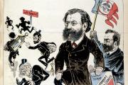 Edouard Drumont en « une» du «Pilori», journal satirique réactionnaire, du 29 mars 1891.