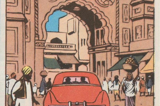 Planche extraite du « Secret de l'Espadon», d'Edgar P. Jacobs.