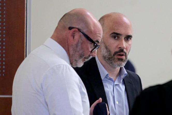L'ancien directeur du journal « Corse-Matin », Antony Perrino (à droite), à Ajaccio, le 25 juin 2019.