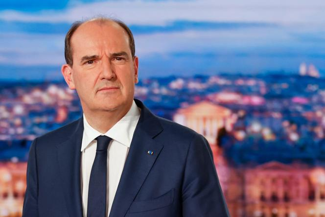 The Prime Minister, Jean Castex, on the set of TF1, Thursday, October 21.