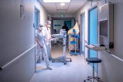 Dans le service des urgences de l'hôpital de Perpignan, en janvier 2021.