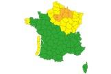 La carte de vigilance, émise à 7 heures, jeudi 21 octobre, par Météo-France.