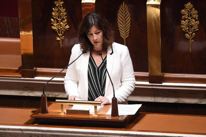 La députée (LRM) Cécile Rilhac à l'Assemblée nationale, le 28 avril 2020.
