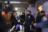 Antoine Vey et Sylvain Cormier, les avocats de Karim Benzema, à la sortie du tribunal de Versailles, le 20 octobre 2021.