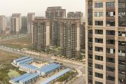 Méga complexe immobilier en chantier d'Evergrande, à Jurong (Chine), le 19octobre 2021.