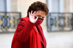 La ministre Roselyne Bachelotlors de la réunion hebdomadaire du cabinet à l'Elysée Palais présidentiel à Paris le 13 octobre 2021.