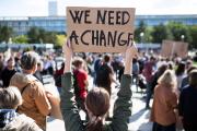 Une manifestation pour le climat.