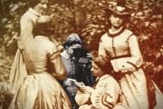 «La Séance de stéréoscopie» (vers 1865), photographie d'Achille Bonnuit (1833-1906).