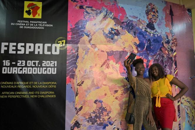 Au Festival panafricain du cinéma et de la télévision de Ouagadougou (Fespaco), le 20octobre 2021.