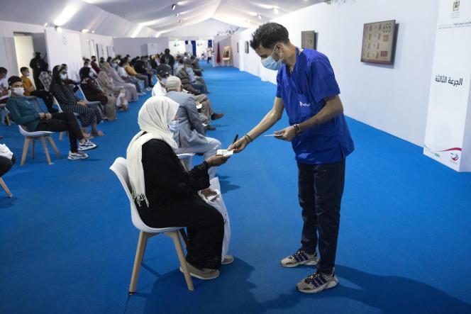 Un centre de vaccination contre le Covid-19 à Salé, au Maroc, le 5octobre 2021.