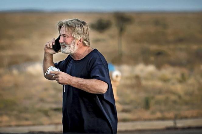 Alec Baldwin après été avoir entendu par le shérif de Santa Fe, jeudi 21octobre2021.