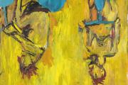 «Die Mädchen von Olmo II» [Les Filles d'Olmo II] (1981), de Georg Baselitz. Huile sur toile, 250 cm × 249 cm.