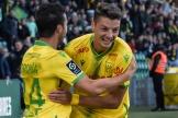 Andrei Girotto célèbre l'ouverture du score contre Clermont, samedi à la Beaujoire.