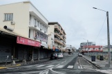 Une rue déserte dans le centre ville de Nouméa, le 7 septembre 2021.