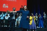 «Notre République se défait quand les inégalités de richesse et de patrimoine explosent » a lancé Anne Hidalgo, à Lille, le 23 octobre 2021.