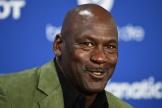 Michael Jordan, joueur légendaire de la NBA, à l'AccorHotels Arena à Paris,le 24 janvier 2020.