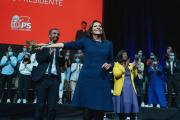 Anne Hidalgo, lors de la convention d'investiture du PS, à Lille, le 23octobre.