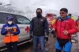 Opération de sauvetage après une avalanche sur le volcan Chimborazo, En Equateur, le 24 octobre 2021.