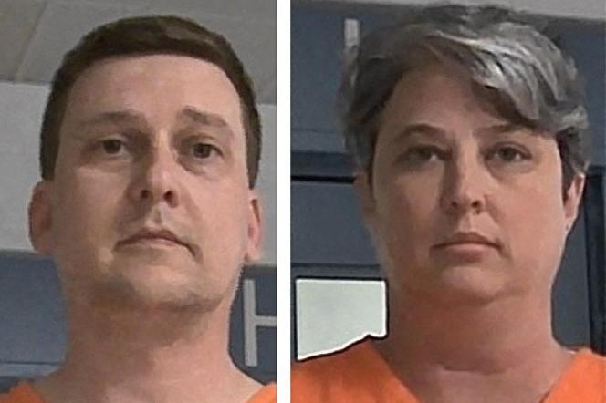 Jonathan et Diana Toebbe, au centre correctionnel de Charleston (Virginie-Occidentale), aux Etats-Unis.