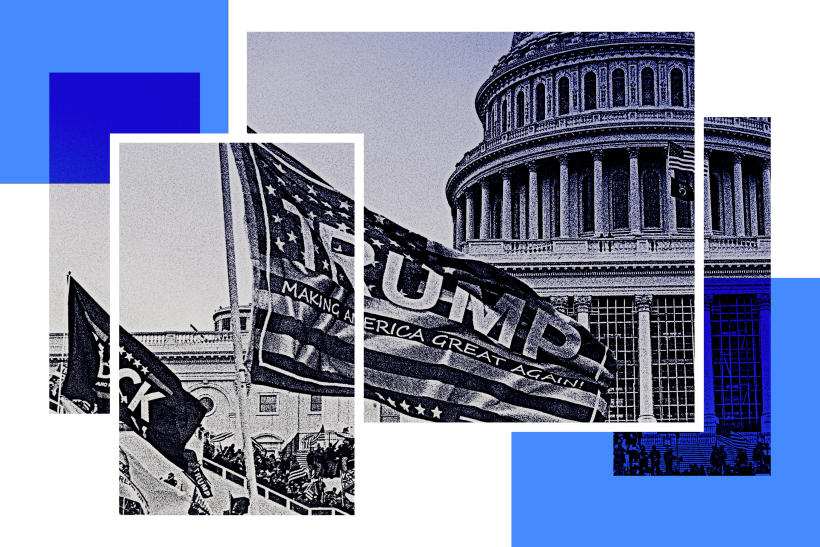 L'assaut du Capitole, à Washington, le 6 janvier 2021.