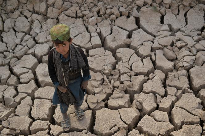 An Afghan child in the Bala Murghab district, an area drained by climate change, located in Badghis province, northwestern Afghanistan, October 15, 2021.