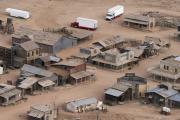 Le ranch de Bonanza Creek près de Santa Fe (Nouveau-Mexique), lieu de tournage du film«Rust» avec Alec Baldwin, le 23octobre 2021.