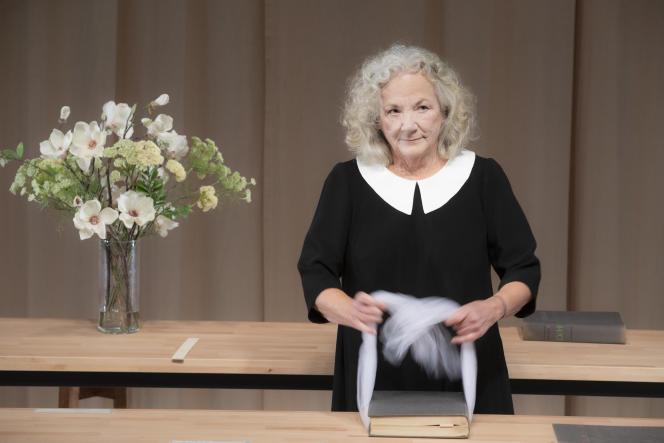 Catherine Hiegel, le 14 octobre 2021, au Théâtre du Petit Saint-Martin, à Paris.