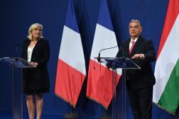 Marine Le Pen et Viktor Orban, le 26 octobre 2021 à Budapest.