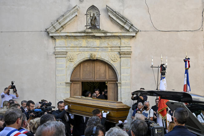 Funérailles du maire de Signes (Var), Jean-Mathieu Michel, le 9 août 2019.