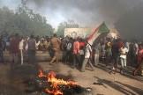 Protestations dans les rues de Khartoum, le 25 octobre 2021.
