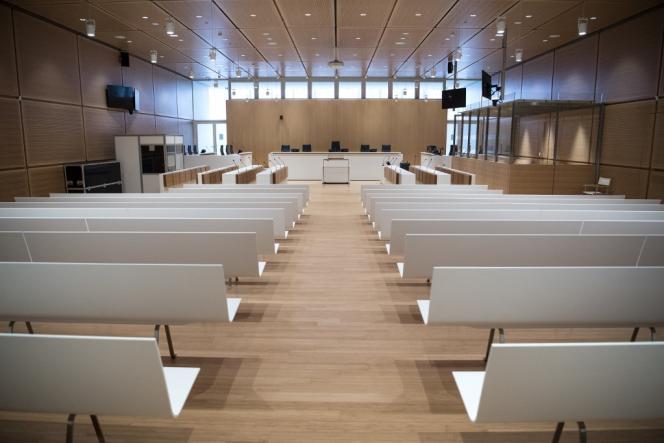 Une salle d'audience du tribunal judicaire de Paris, dans le 17earrondissement, le 26mars 2018.