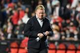 L'ex-entraîneur barcelonais, Ronald Koeman, durant le match contre le Rayo Vallecano, au stade de Vallecas, à Madrid, le 27octobre 2021.