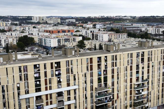 Le quartier de la Mosson à Montpellier, en décembre 2016.