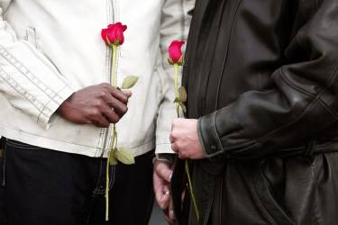 PONTIAC, MI - MARCH 22: A same-sex couple get married at the Oakland County Courthouse on March 22, 2014 in Pontiac, Michigan. A Federal judge overturned Michigan's ban on same-sex marriage on Friday, March 21, 2014.   Bill Pugliano/Getty Images/AFP== FOR NEWSPAPERS, INTERNET, TELCOS & TELEVISION USE ONLY ==