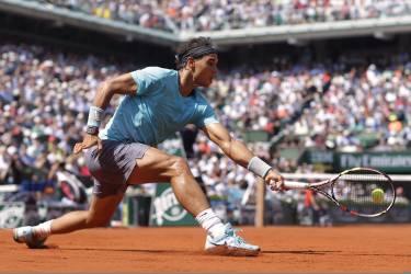 Rafael Nadal s'est imposé en 3 sets face à l'Argentin Leonardo Mayer, samedi 31 mai.